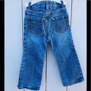 Boot Stretch Jean Heart Design Back Pockets